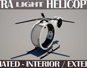 3D Ultra Light Helicopter Animated