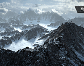 3D asset Mountain Snow