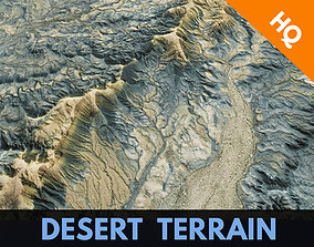 3D model Desert Surface Terrain Landscape Environment PBR