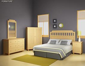 Bedroom Furniture 20 Set 3D asset