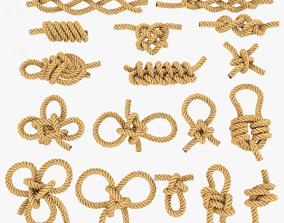 3D asset game-ready rope knot bundle