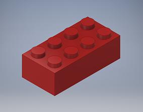 toys 3D printable model Standard 2x4 Lego Piece