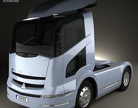 Mitsubishi Fuso Tractor Truck 2004 3D model