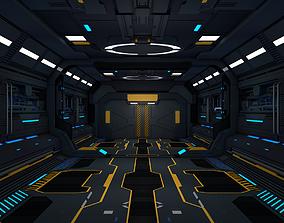 3D laboratory Sci Fi Corridor