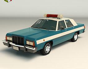 Low Poly Police Car 02 3D asset
