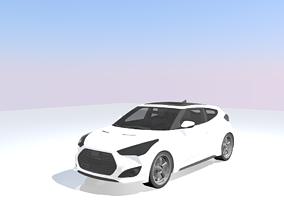 3D asset rigged Hyundai Veloster