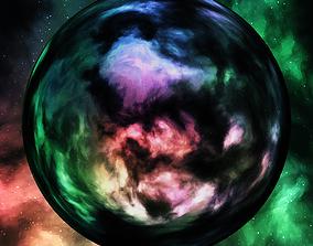 Nebula Space Environment HDRI Map 010 3D model