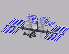 3D model Cartoon Simple Space Station