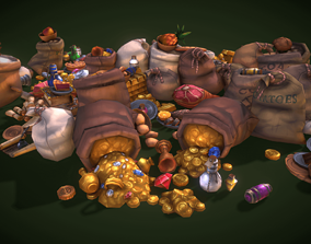 Loot Set - Low Poly 3D asset