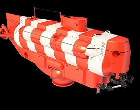 As 40 Bester Deep-submergence rescue vehicle 3D asset