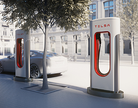 3D model electric Electric car charger