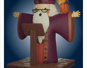 3D print model Dumbledore and Fawkes