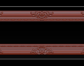 Classical carved frame 3D print model
