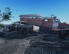 Destroyed Road 3D asset