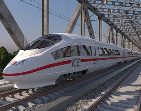 High-speed train ICE 3 Siemens Velaro E Germany 3D