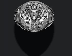 Pharaoh ring with gems 3D print model