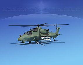 3D asset WZ-10 Attack Helicopter V01