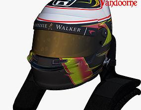 3D model Vandoorne helmet 2017