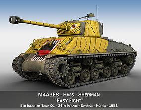 3D model M4A3E8 Sherman - Easy Eight - Korea sherman