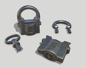 3D asset VR / AR ready Padlock