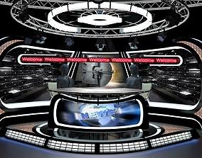 3D Virtual TV Studio News Set 34