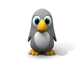 3D pingouin Cartoon Penguin