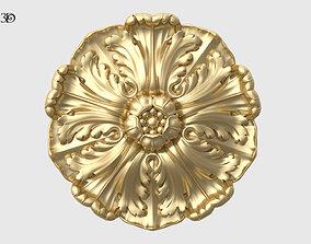 Renaissance Rosette Flower 3D printable model