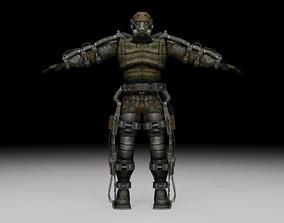 Stalker - Monolith Soldier 01 3D model rigged