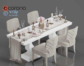 3D Tenarchstudio Dining Table-Decor Render Ready Vray -