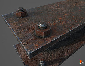 Metal beam Factory V01 3D asset VR / AR ready
