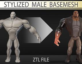 3D Stylized male basemesh
