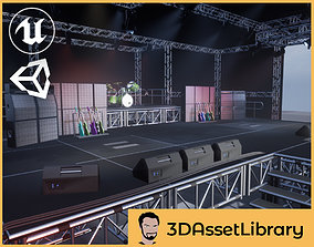 Stage Vol 1 For Unreal And Unity 3D model