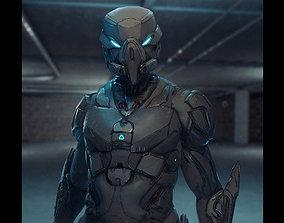 Robot Soldier 3D asset rigged