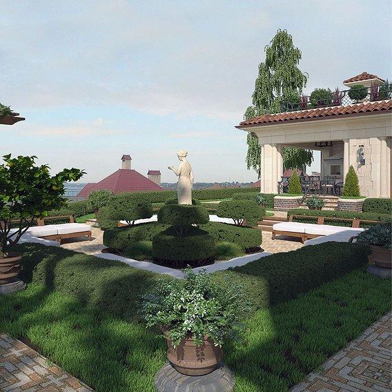 Estate Project. Garden.