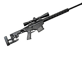 Ruger Precision Rifle with Scope AAA Game Weapon 3D asset