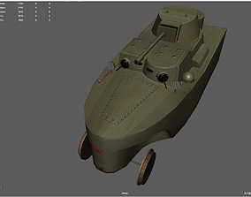 3D asset Armored train BAD-2