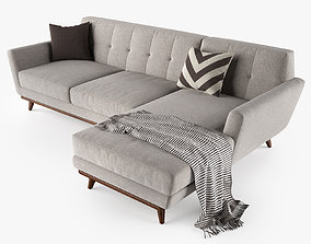 3D model Joybird Hughes Sectional Sofa