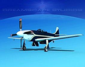 3D model P-51 Mustang Sport V03