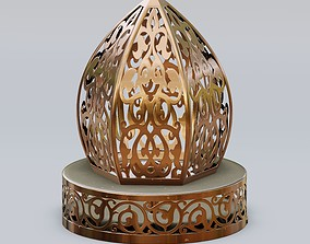 Traditional moroccan patterned lantern 3D model