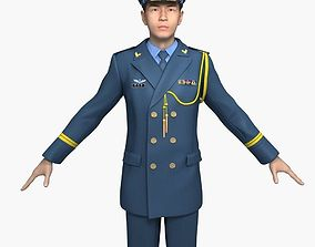 3D Chinese Air Force Officers Spring and Autumn