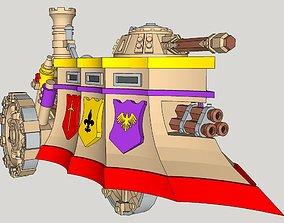 10mm Imperious Tri-Gun Steam-Tank 3D printable model
