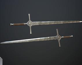 Medieval sword 3D model VR / AR ready PBR