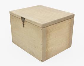 Wooden Box 3D asset low-poly PBR