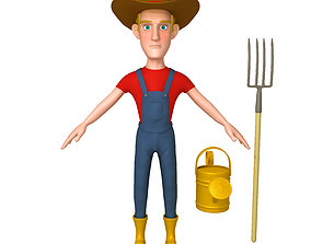 3D Farmer Cartoon 02