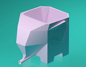 abstract Elephant Drain Holder 3D printable