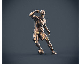 Soccer forward figure 3D print model printable