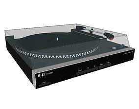 3D model Vinyl Record Player Turntable