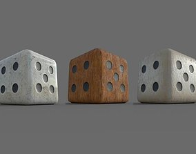 Playing Dice 3D asset