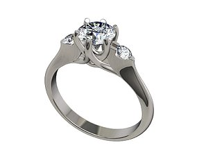 Engagement ring Solitaire Trilogy Ring Model-CC87