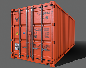 3D asset PBR 20 ft Shipping Cargo Container Version 2 - 1